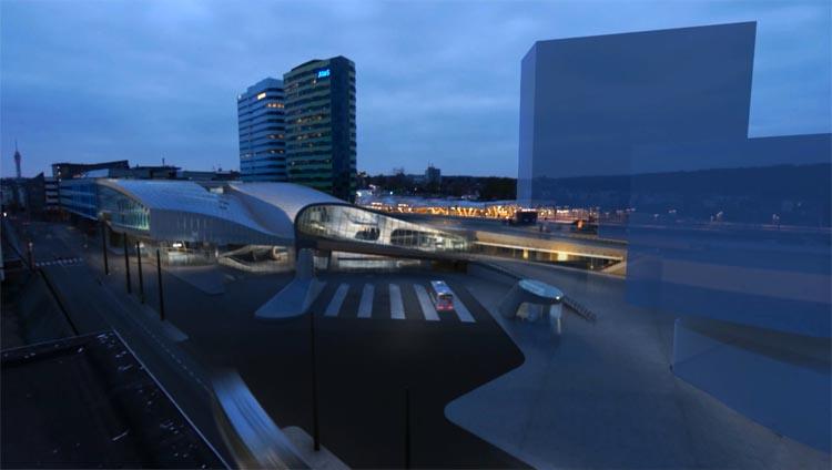 Stationshal Arnhem Centraal (beeld: UNStudio)