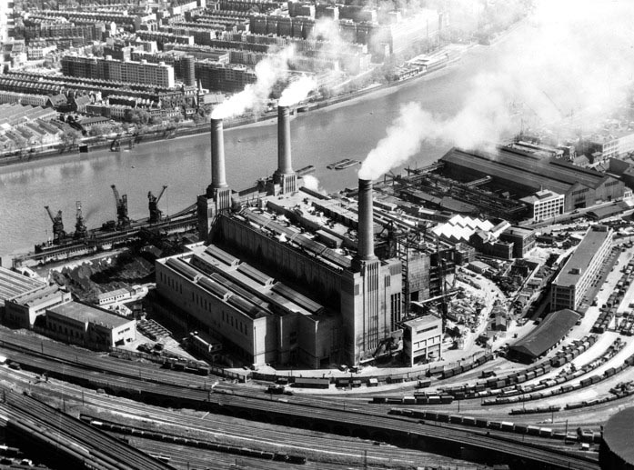 Battersea Power Station in 1953