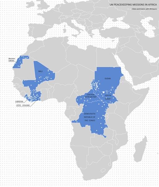 VN Vredesmissies in Afrika (beeld: Het Nieuwe Instituut)
