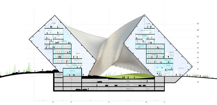 Astana National Library (Beeld Bjarke Ingels Group)