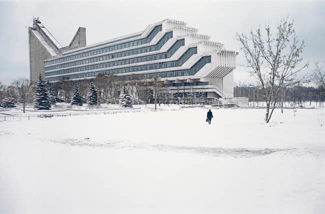 Architectuurfaculteit in Minsk (V. Anikin, I. Yesman) Wit-Rusland, 1983
