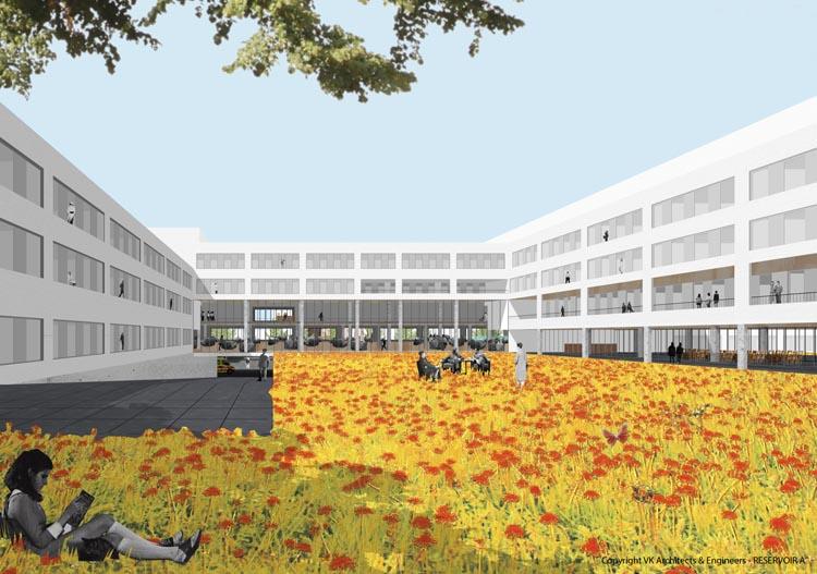 Grand Hôpital de Charleroi, hof