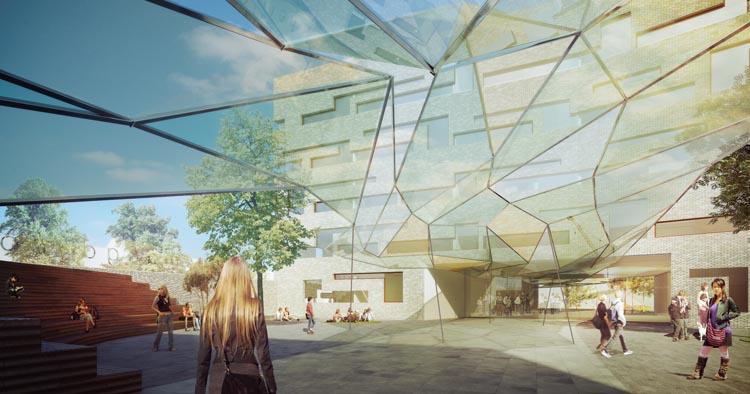 Het plein (beeld: dJGA)