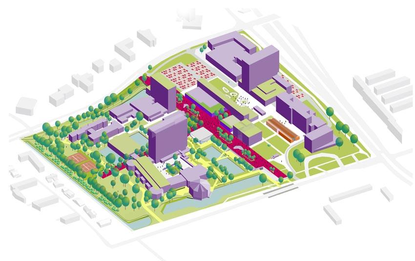 Het campusplan (beeld: Erasmus universiteit)