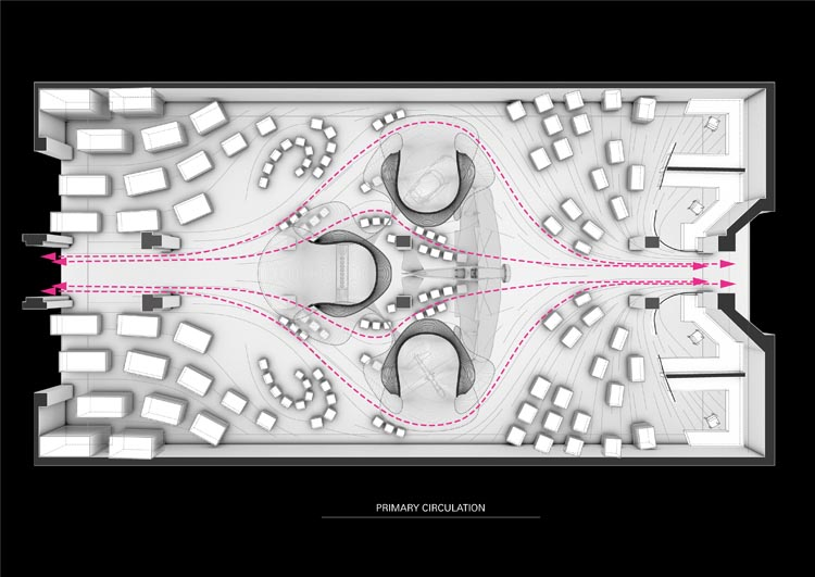 plattegrond (© Zaha Hadid Architects)