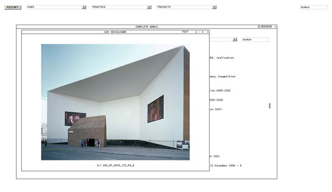 Website Herzog & De Meuron