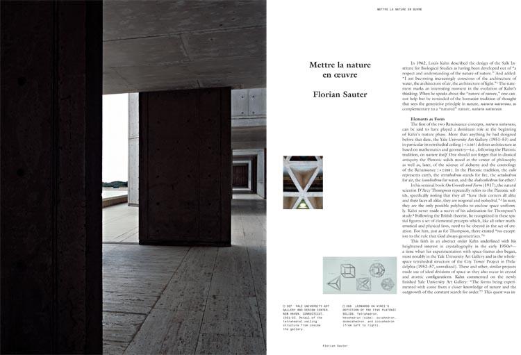 Louis Kahn The Power of Architecture - Mettre la nature en oeuvre