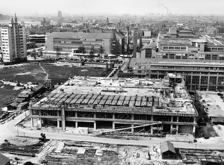V&D in aanbouw (1948), foto: Fotobureau C. Kramer