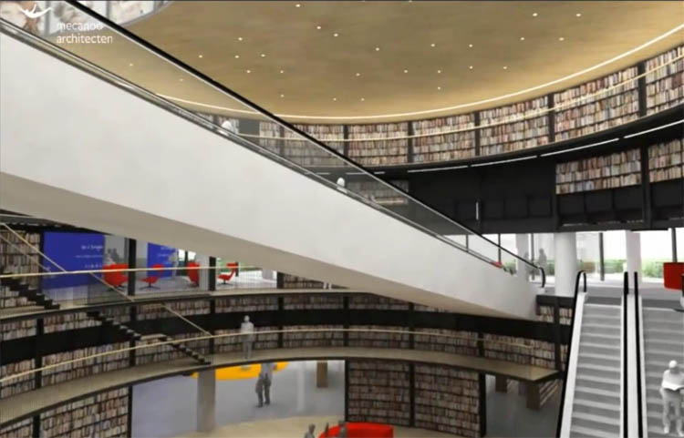Fragment uit de video van de bibliotheek in Birmingham