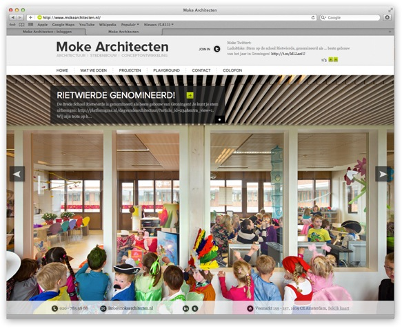 Website Moke Architecten