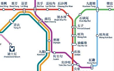 Metrokaart Hong Kong