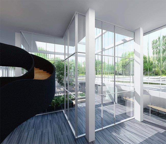 Hoofdkantoor ASR - atrium (beeld: MVSA)