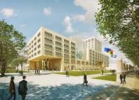 Start bouw kantoorgebouw Neutelings Riedijk Brussel