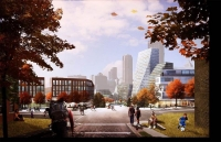Masterplan voor Lower Hill District te Pittsburgh (VS)