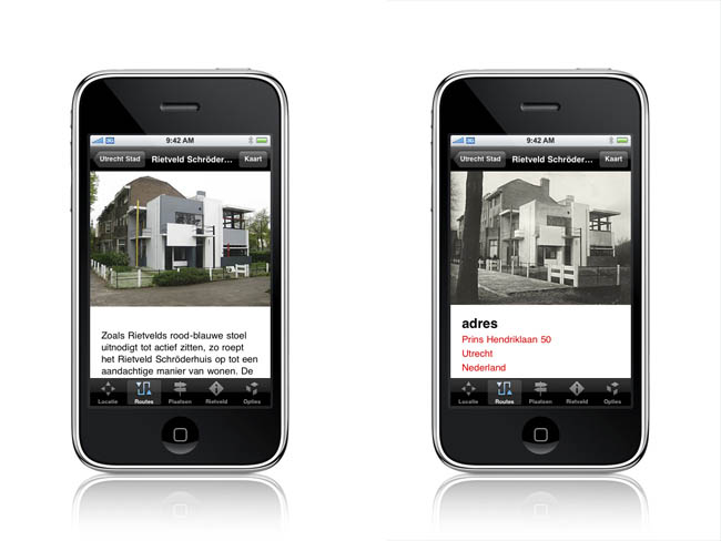 Rietveld I-Phone applicatie