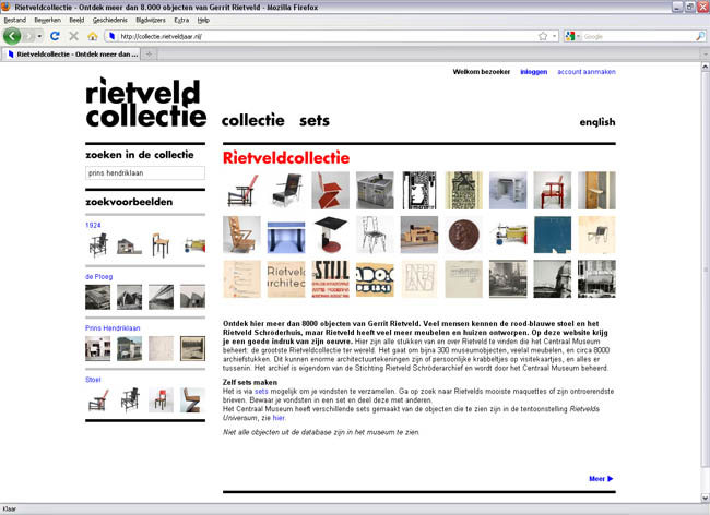 Website Rietveld Collectie
