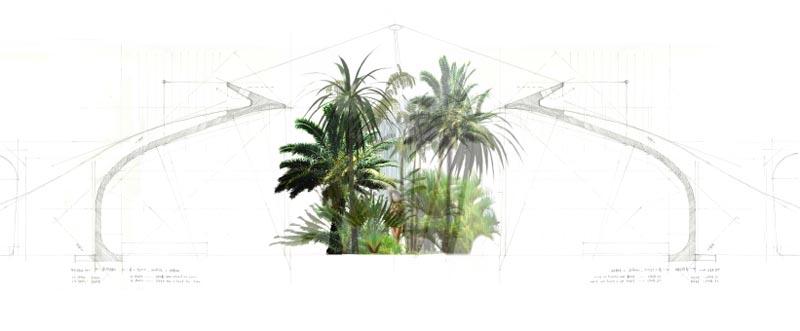 Het Nieuwe Paviljoen, doorsnede (afbeelding: SeARCH)