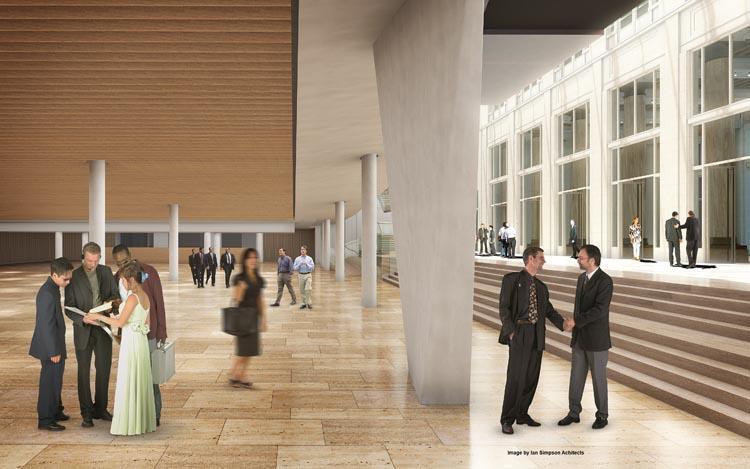 atrium (beeld: Ian Simpson Architects)