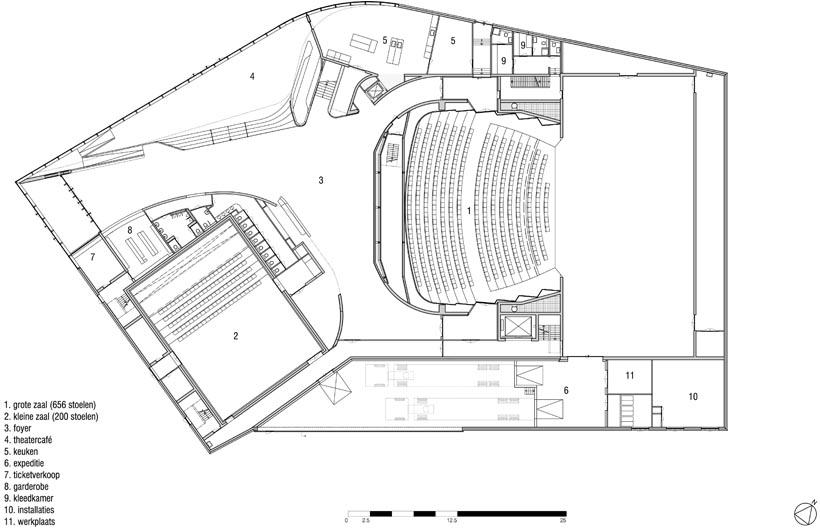 Plattegrond niveau 0 (tekening: UNStudio)