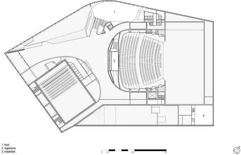 Plattegrond niveau 2300 (tekening: UNStudio)