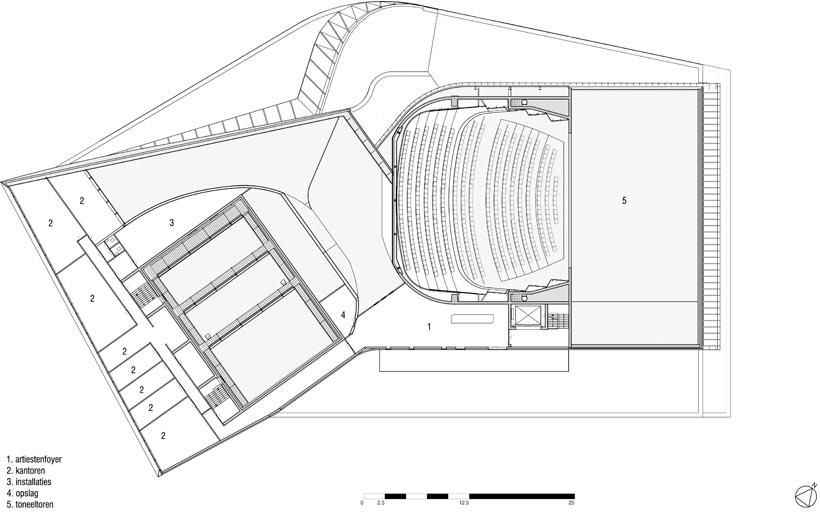 Plattegrond niveau 8600 (tekening: UNStudio)