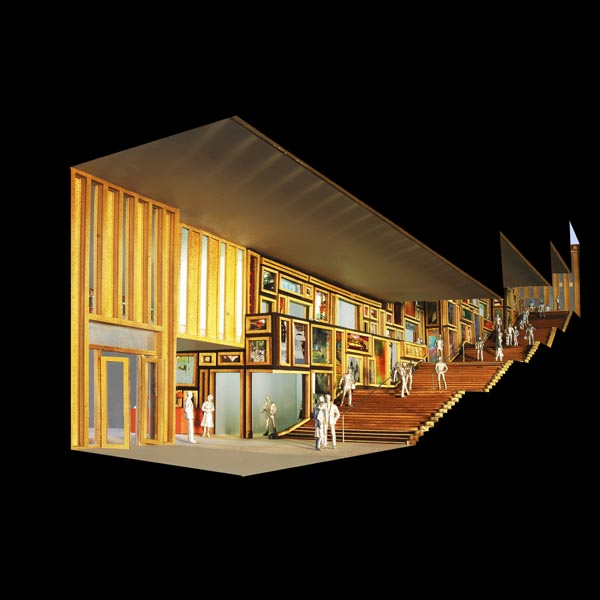 Maquette Rozet (© Neutelings Riedijk Architecten)