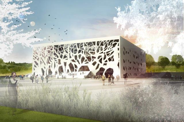 Impressie situatie (beeld: Bernard Tschumi Architects)